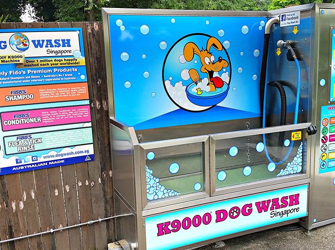 Lavaggio cani a Singapore