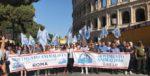 In piazza a Roma per i diritti degli animali.
